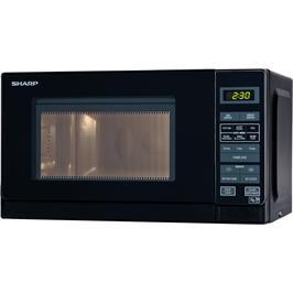 מיקרוגל דיגיטלי בנפח 20 ליטר, 11 עוצמות חום 800 וואט תוצרת SHARP דגם R-209 שחור