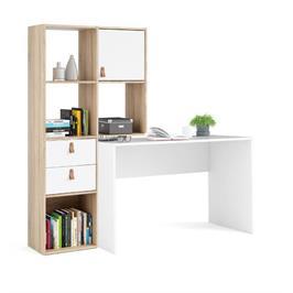 עמדת עבודה עם שולחן כתיבה וספרייה תוצרת דנמרק HOME DECOR דגם סמבה