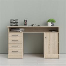 שולחן כתיבה עם שידת מגירות ותאי אחסון תוצרת אירופה HOME DECOR דגם משי