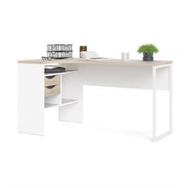 שולחן כתיבה פינתי עם מגירות ותא אחסון תוצרת דנמרק HOME DECOR דגם מיטל