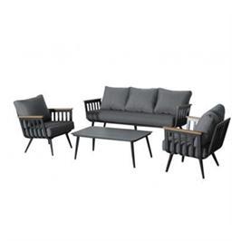 מערכת ישיבה מרופדת לגן, עם ספה לשלושה מבית Australia Garden דגם Santorini
