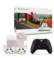 באנדל קונסולה XBOX ONE S 1TB עם שני שלטים, ערכת טעינה+מעמד ומשחק Forza Horizon 4+LEGO speed champion