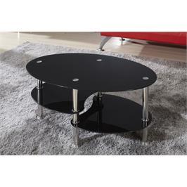 שולחן סלון זכוכית תוצרת GAROX דגם DARK