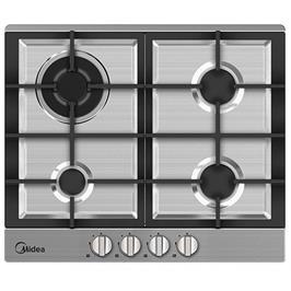 """כיריים גז ברוחב 60 ס""""מ 4 להבות בישול בגימור נירוסטה תוצרת Midea דגם 60G40ME005-SFT"""