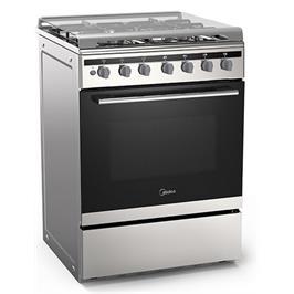 תנור אפייה עומד משולב כיריים 65 ליטר תוצרת Midea דגם 24DMS4G113-2EEQ2