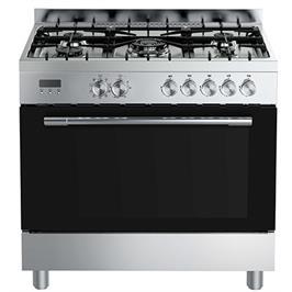 """תנור אפייה עומד 90 ס""""מ משולב 109 ליטר נירוסטה מוברשת תוצרת Midea דגם 36QMS5GP48"""