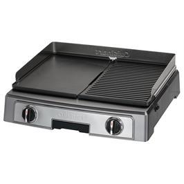פלאנצ'ה גריל רחבה בעלת 2 משטחי צלייה ! 2200 וואט תוצרת Cuisinart דגם PL50E