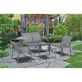 מערכת ישיבה לגן בעלת גוף מתכת יציב וחזק במיוחד תוצרת Australia Garden דגם Cappello
