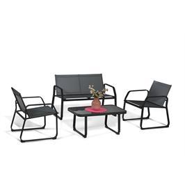 מערכת ישיבה לגן בעלת גוף מתכת יציב וחזק במיוחד תוצרת Australia Garden דגם Garda