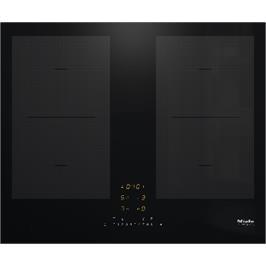 כיריים אינדוקציה 4 אזורי בישול גמישים מגושרים בהספק גבוה PowerFlex תוצרת Miele דגם KM7465 FL