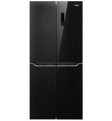 מקרר 4 דלתות גוון זכוכית שחורה 472 ליטר No Frost תוצרת HAIER דגם HRF4482FB