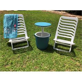 הסט המושלם לבריכה ולים! זוג כסאות Sunny עם קול בר נייד- Gobar