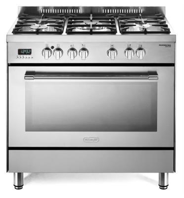 """תנור משולב 5 להבות מפואר 90 ס""""מ 8 תוכניות תוצרת Delonghi דגם NDS940X"""