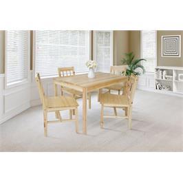 פינת אוכל מעץ מלא כולל 4 כיסאות נוחים ויציבים מבית GAROX דגם RACHEL