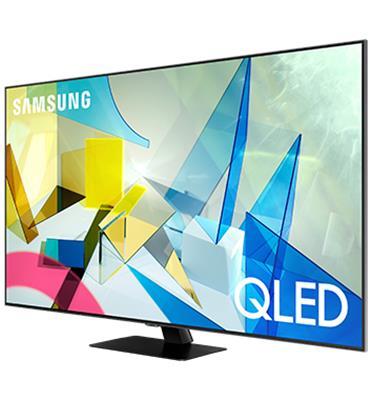 טלוויזיה 55 עם בינה מלאכותית, QLED 4K SMART TV Direct Full Array תוצרת SAMSUNG דגם QE55Q80T