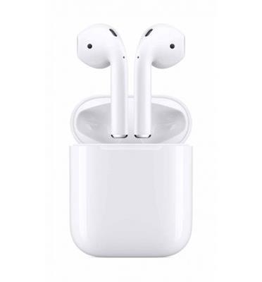 אוזניות אלחוטיות תוצרת Apple דגם AirPods 2 מארז טעינה (ללא טעינה אלחוטית) יבואן רשמי! במלא