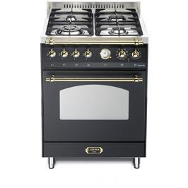 """תנור משולב כיריים 60 ס""""מ גימור בעיצוב כפרי מבית LOFRA דגם RNM66MFT/Ci RU-GOLD"""