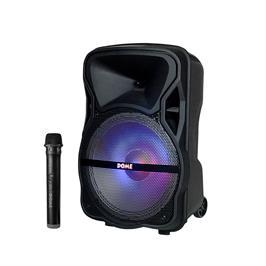 בידורית קריוקי ניידת 1000W ומיקרופון אלחוטי דגם DM-125