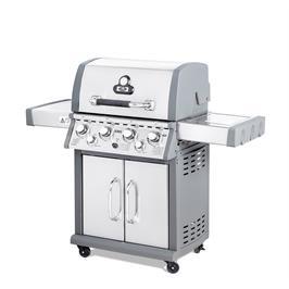 גריל גז קינג 4 מבערים 60000 BTU בגימור נירוסטה + כירת צד ומבער אינפרא מבית Australia Chef