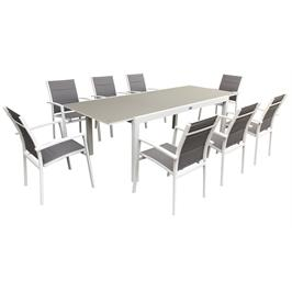פינת אוכל מפוארת עם 6 כסאות תוצרת AUSTRALIA GARDEN דגם Miami