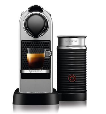 מכונת קפה NESPRESSO דגם סיטיז אנד מילק בצבע כסוף דגם C123