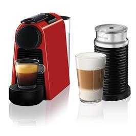 מכונת קפה NESPRESSO אסנזה מיני בצבע אדום דגם D30 כולל מקציף חלב ארוצ'ינו