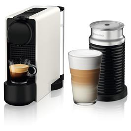 מכונת קפה NESPRESSO אסנזה פלוס בגוון לבן דגם C45 כולל מקציף חלב