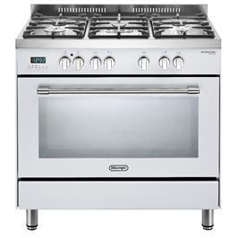 """תנור משולב 5 להבות מפואר 90 ס""""מ 8 תוכניות תוצרת Delonghi דגם NDS940W"""