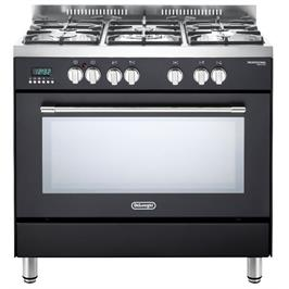 """תנור משולב 5 להבות מפואר 90 ס""""מ 8 תוכניות תוצרת Delonghi דגם NDS940AN"""