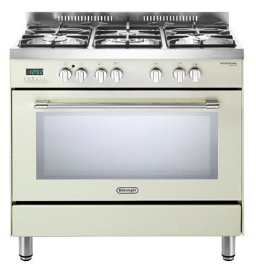 """תנור משולב 5 להבות מפואר 90 ס""""מ 8 תוכניות תוצרת Delonghi דגם NDS940VN"""
