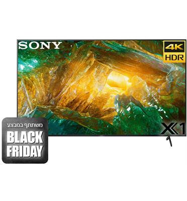 טלויזיה 85 4K LED Android TV תוצרת Sony דגם KD-85XH8096BAEP