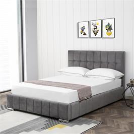 מיטה זוגית 140x190 מעוצבת ומרופדת בד קטיפתי HOME DECOR דגם מוניק זוגית
