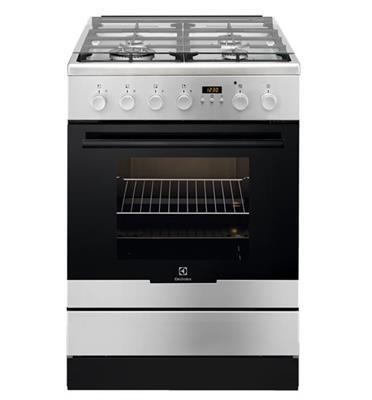 תנור משולב כיריים 62 ליטר 4 להבות גימור נירוסטה תוצרת Electrolux דגם EKK64300OX