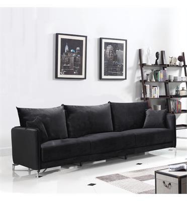 ספה רחבה 2.4 מ בעיצוב מודרני מרופדת בד קטיפתי HOME DECOR דגם מקיטה
