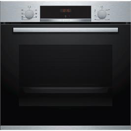 """תנור בנוי נירוסטה 60 ס""""מ SoftClose סגירת דלת רכה תוצרת BOSCH דגם HBG513BS0Y"""