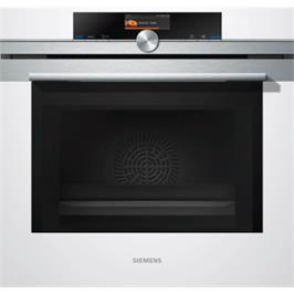 תנור בנוי משולב מיקרוגל 67 ליטר לבן iQ700 תוצרת SIEMENS דגם HM636GNW1