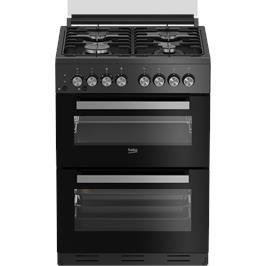 """תנור משולב דו תאי מהדרין בהשגחת הבד""""ץ העדה החרדית שחור תוצרת BEKO דגם KFDM62120DBDSL"""