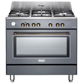 """תנור משולב כיריים 90 ס""""מ ובעיצוב וינטג' צבע אפור תוצרת DELONGHI דגם NDS952G"""