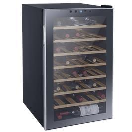 מקרר יין מפואר 45 בקבוקים מדפי עץ מבית LANDERS דגם JC128W