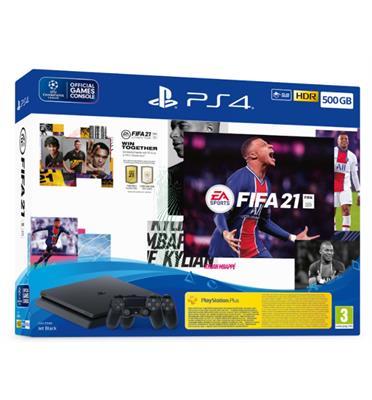 קונסולה פלייסטיישן PlayStation 4 500GB שני בקרים FIFA 21 דגם CUH-2216A-DSF21