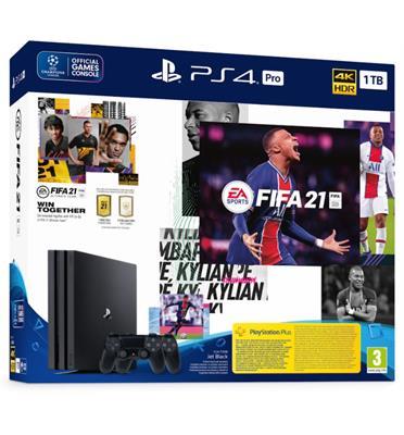 קונסולה פלייסטיישן PlayStation 4 PRO 1TB שני בקרים FIFA 21 דגם CUH-7216B-DSF21