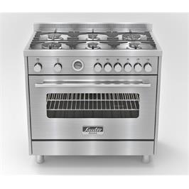 """תנור משולב יוקרתי בעיצוב תעשייתי ואלגנטי במיוחד רוחב 90 ס""""מ תוצרת SAUTER דגם PRO5000IX"""
