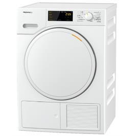 """מייבש כביסה 7 ק""""ג עם מדחס משאבת חום בטכנולוגיית EcoDry תוצרת MIELE דגם TWB140WP White Edition"""