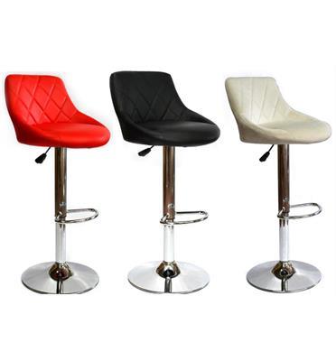 2 כסאות בר מבית ROSSO ITALY בשלושה צבעים לבחירה דמוי עור PU דגם MSH-3-4