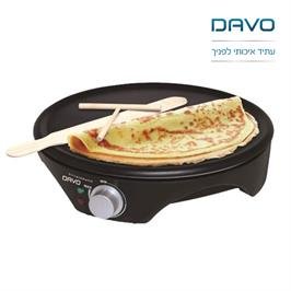 מכשיר להכנת קרפ או פנקייק או מופלטה תוצרת DAVO דגם DAV129
