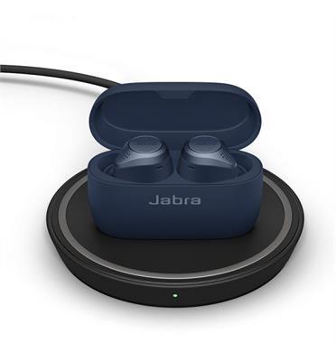 אוזניות TWS מתקדמות למוזיקה ושיחות עם טעינה אלחוטית תוצרת JABRA דגם Elite75t WLC Tit