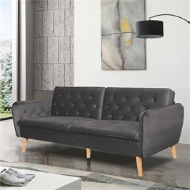 ספה תלת מושבית נפתחת למיטה רחבה מרופדת בד קטיפה HOME DECOR דגם תמר
