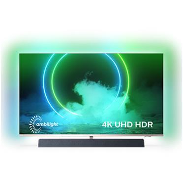 טלוויזיה 65 מסגרת דקה 4K UHD Android TV תוצרת PHILIPS דגם 65PUS9435