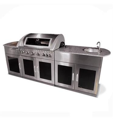 מטבח חוץ מושלם! כולל גריל גז איכותי,שיש, כירת גז עוצמתית, כיור וארוניות אחסון מבית DCHEF