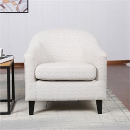 כורסא מפנקת בעיצוב קלאסי  מרופדת בד עם רגלי עץ מלא HOME DECOR דגם איביזה